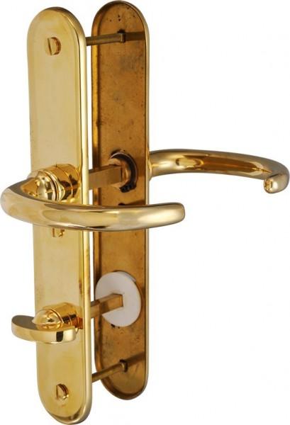 4070*18 Garnitur für 9mm WC-Einsteckschloss aus Messing