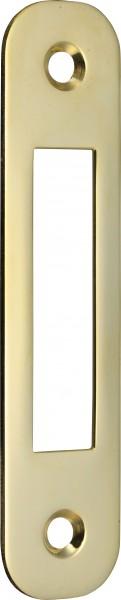 4074-020 Schließblech für Schiffs-Riegel-Einsteckschlösser, Messing poliert