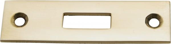 4016*06 Schlaufe und Schließblech für Profilriegel Messing