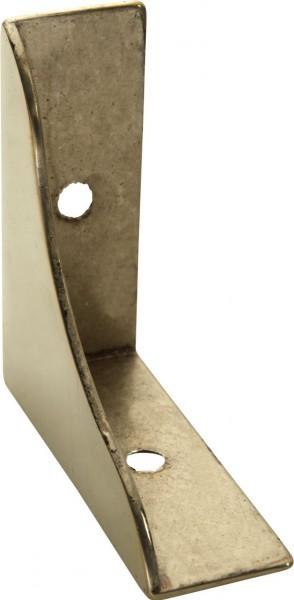 4703*03 Möbelwinkel / Ecke Messing geschwungen