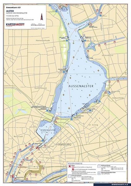 9023-009 Revierkarten laminierte Einzelblätter KARTENWERFT
