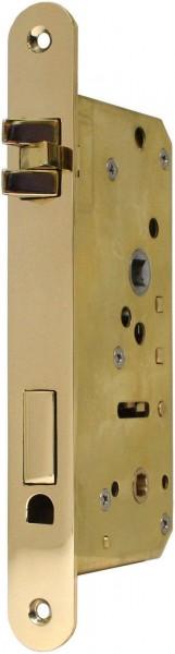 4070-044 WC-Einsteckschloss / Schiffsschloss, Messing poliert DIN links