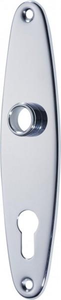 4073-535 Profilzylinder-Ovalschild für Haushaltsschlösse, Messing verchromt