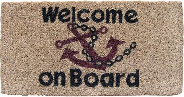 """2772*01 Kokos- Fußmatte """"Welcome on Board"""""""