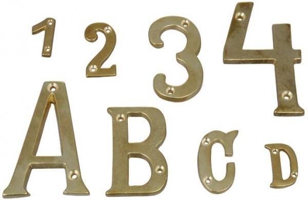 4597*01 Buchstaben und Zahlen aus Messing