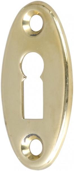4073-026 Kleines ovales Schlüsselschild für Schiffsschloss, Messing poliert