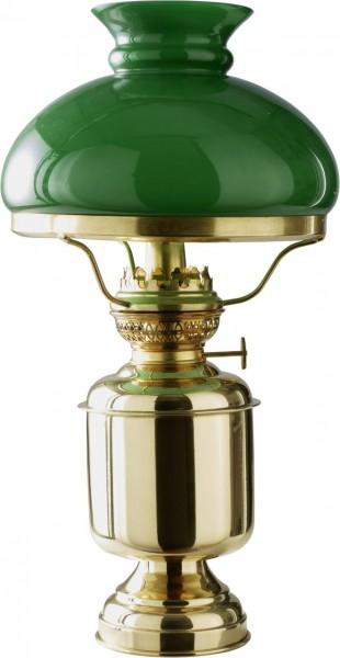 4153*04 Tischleuchte DHR mit grünem Glasschirm