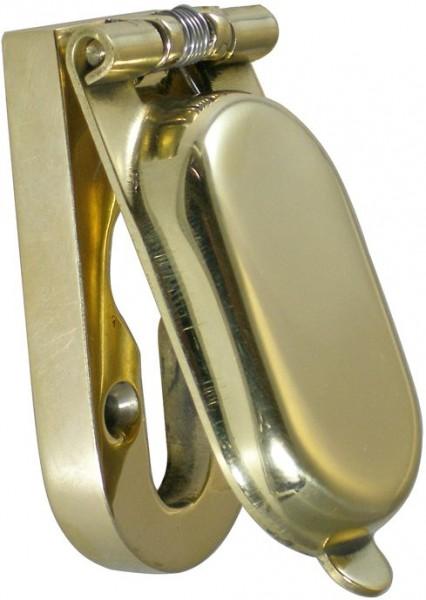 4073-039 Abdeckkappe für Schilder mit Profilzylinder, Messing poliert
