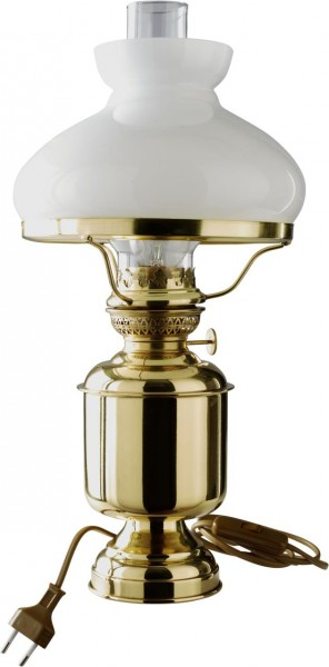 4153-003 Tischleuchte DHR mit weißem Glasschirm