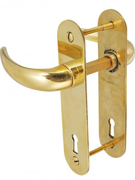 4698*01 Säbeldrücker-Garnitur für zierliches Yachtschloss