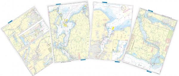 9026*07 Revierkarten Ostsee Einzelblätter NV